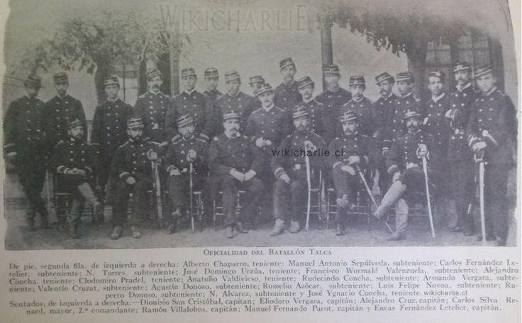 Oficialidad del Batallón Talca 1879