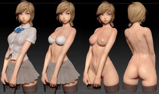 beautiful zbrush model