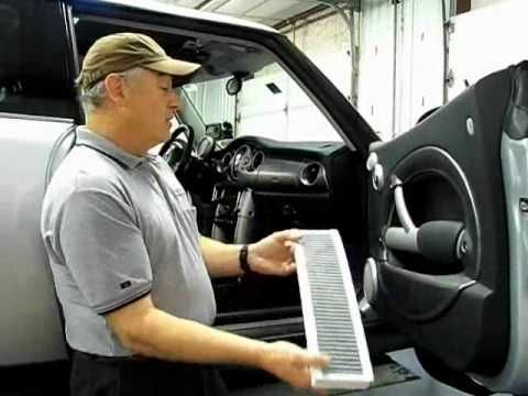 MINI Cooper Cabin Air Filter Removal and Replacement - YouTube