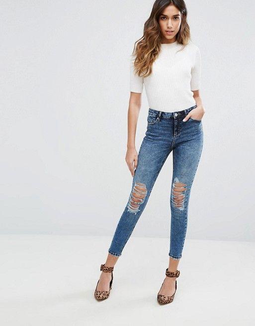 Miss Selfridge Acid Wash Jeans $78.00