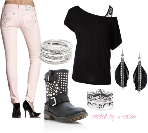 """""""Motorcycle Outfit"""" by n-edson on Polyvore"""