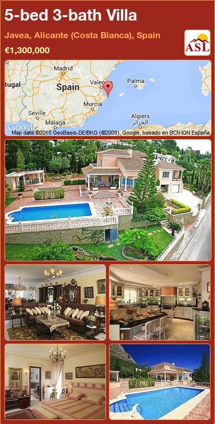 5-bed 3-bath Villa in Javea, Alicante (Costa Blanca), Spain ►€1,300,000 #PropertyForSaleInSpain