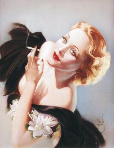 'Marlene Dietrich' - c. 1934 - Pin-Up Art by Alberto Vargas - @~ Mlle