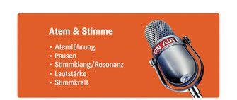 Stimme - Seminare und Übungen Rhetorik, Stimmtraining, Sprechtraining und Hochdeutsch - Stuttgart und Allgäu - Rhetorik und Kommunikationstraining im FON Institut