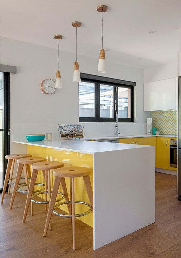 House Rules Yellow Kitchen Caesarstone Masters (3)