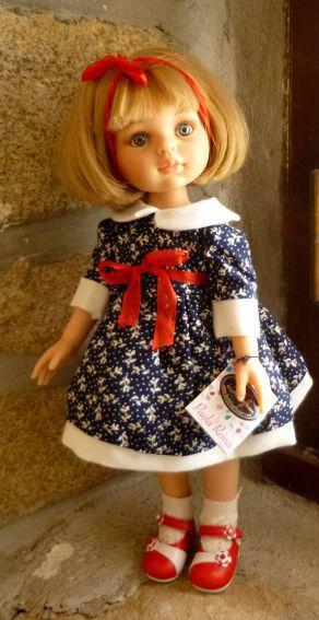 """Poupée/ Doll Paola Reina Ruth Treffeisen """"Carla Petite Robe scolaire"""""""