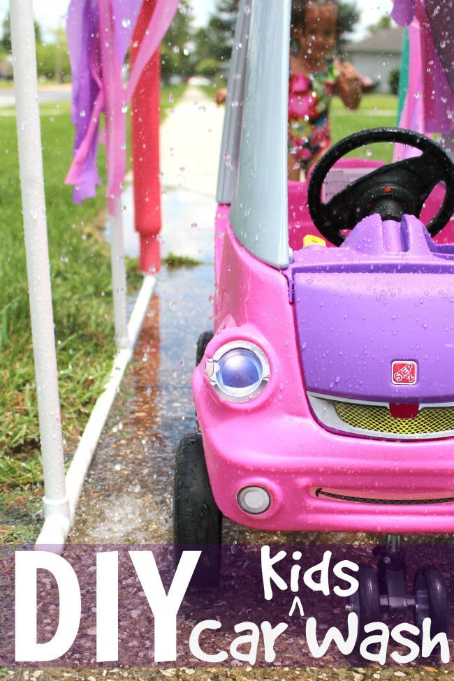 DIY Kid Car Wash | Easy DIY Kids Car Wash featuring PVC pipes and more! Easy and inexpensive craft/activity to make for a whole summer of play! (AD)