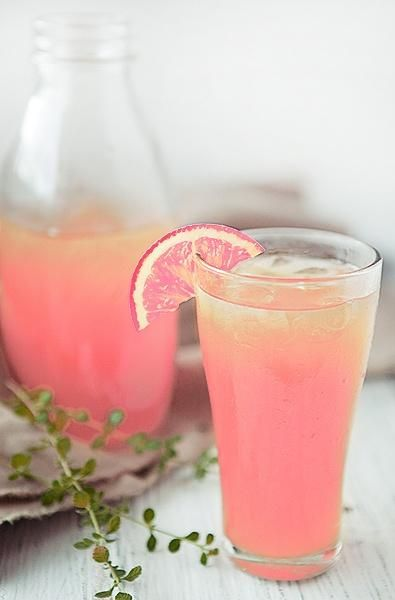 Peach Lemonade, perfect for all of your spring get togethers! I just think it looks pretty.