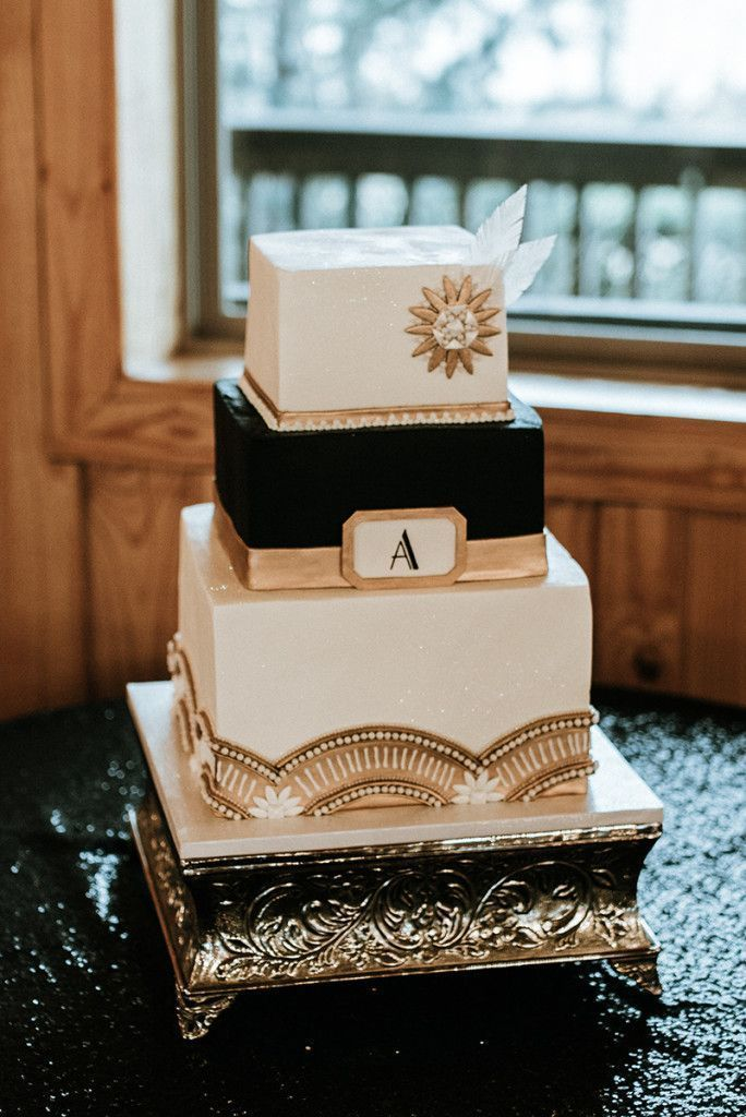 Gatsby Wedding Cake 20s Themed Wedding Cake Great Gatsby