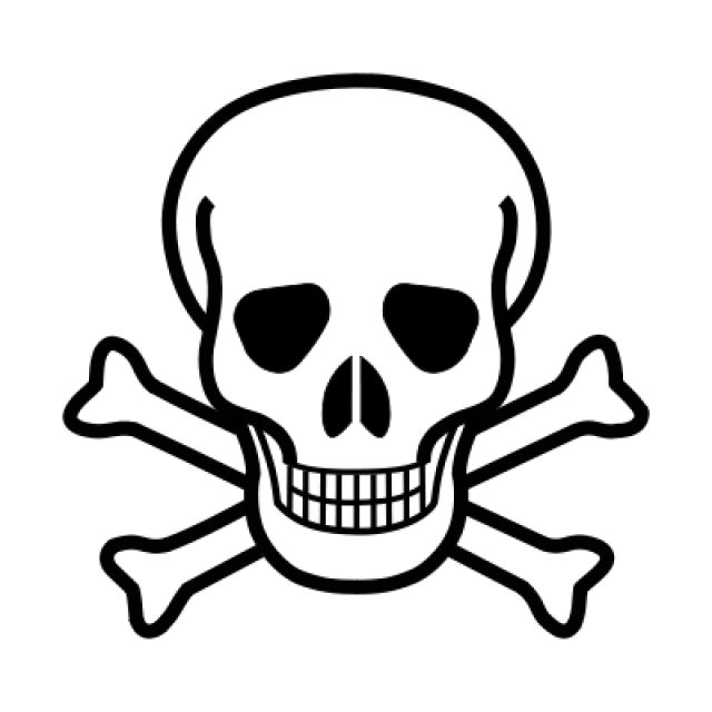 Science Laboratory Safety Signs: Skull and Crossbones