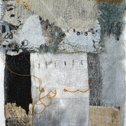 Shelley Rhodes is a contemporary mixed media artist who combines fabric, paper and stitch with drawings and prints
