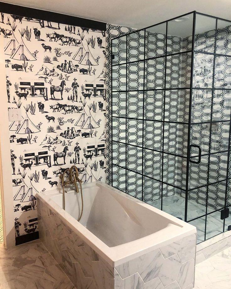 Toile & marble Toile wallpaper, Katie kime, Toile