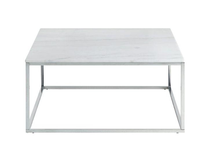 CARRIE Sofabord 90 Stål/Hvit - Stuebord - Bord - Innendørs
