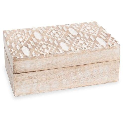 Boîte en bois CARVING IKAT