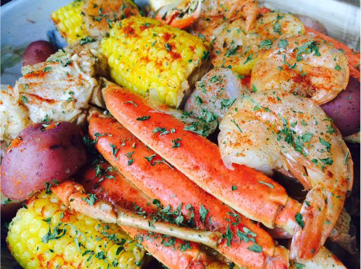 Seafood Boil Jumbo Shrimp Crab Legs Sweet Sausage