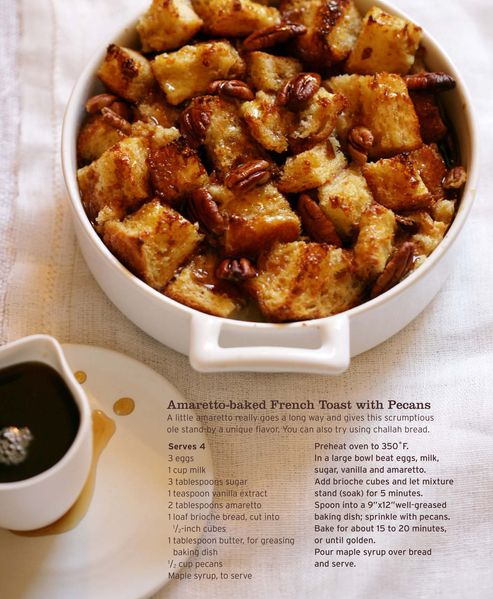 Baked French Toast with Pecans: Amaretto French, Sweet, Recipe, French Toast Bites, Food, Amaretto Baked French, Baked French Toast, Pecans, Breakfast Brunch