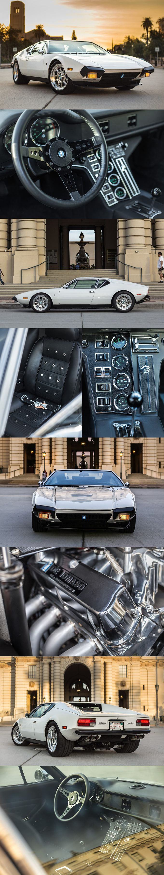 1974 De Tomaso Pantera / Tom Tjaarda at Ghia / Italy / 330hp 351 Cu in V8 / Petrolicious