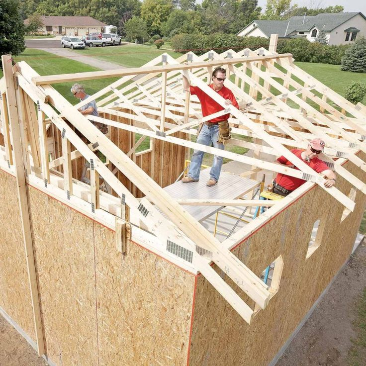Build Shed Roof Trusses in 2020 Building a shed roof