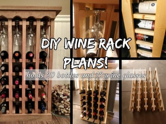 Diy Wine Rack Plans 20 Bottle 12, Wooden Wine Glass Rack Plans