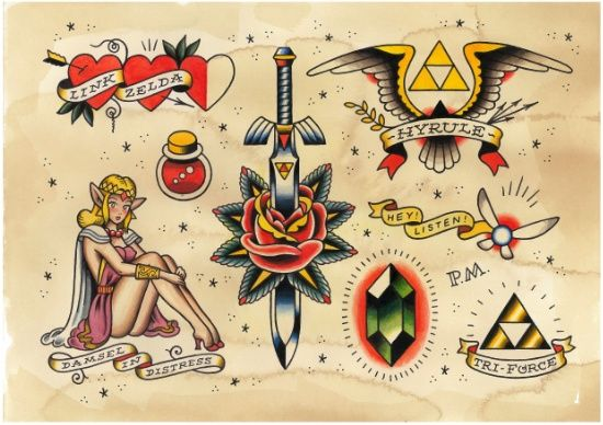 The Legend of Zelda: An Ink to the Past Art Print tattoo, prints