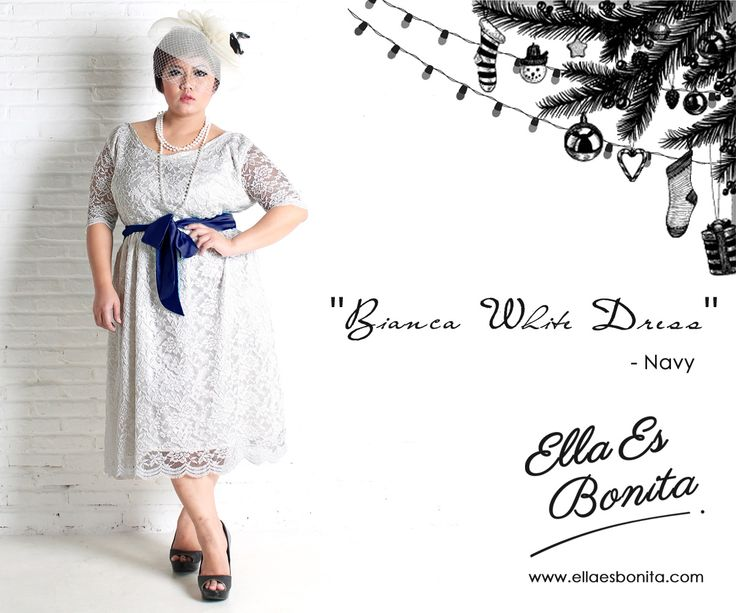 Bianca White Dress - This vintage lace dress features high quality lace which specially designed for sophisticated curvy women originally made by Indonesian Designer & Local Brand: Ella Es Bonita. Available at www.ellaesbonita.com