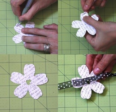 For Scrapping Out Loud: ~Woven Flower Tutorial~