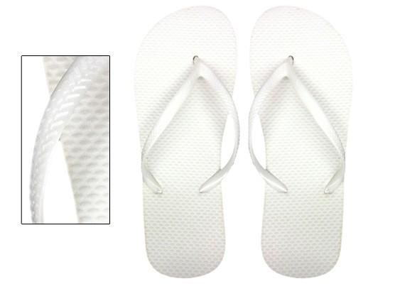 Perfect for that beautiful summer wedding, treat all the guests to white flip flops for when they hit the dance floor.