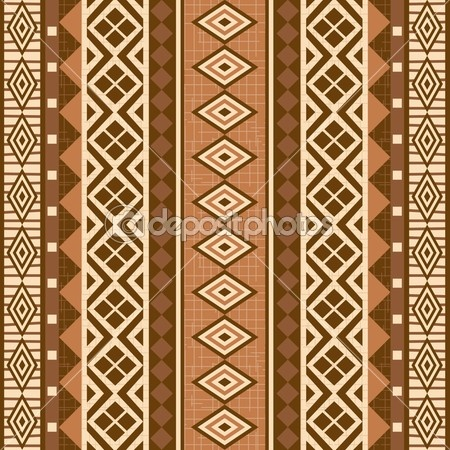 Geometrical ornamental pattern african