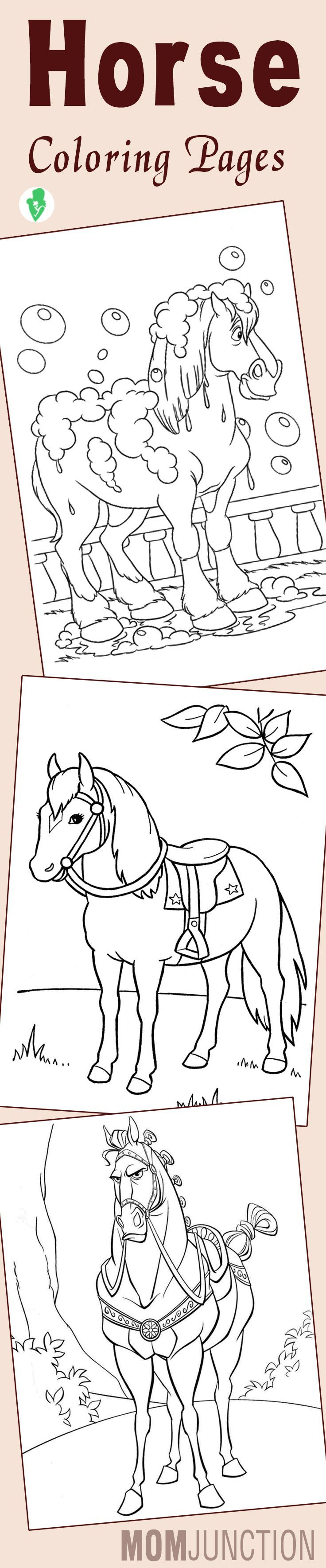 Coloring page one horse open sleigh - 25 Best Horse Coloring Pages Your Toddler Will Love To Color