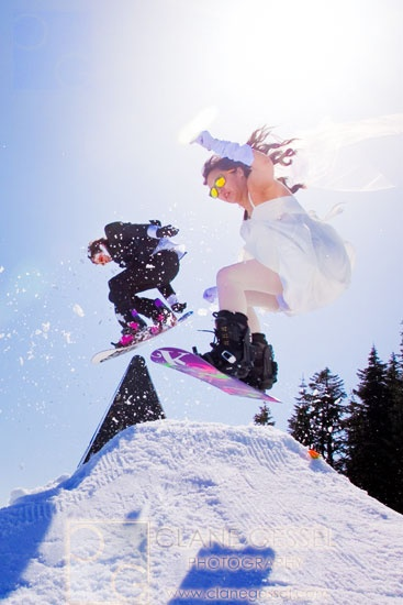 Get married on the lift up the hill and slide into your new life together.