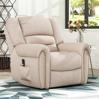 Harper Bright Designs Smoky Brown Heavy-Duty Power Lift Recliner Chair designed for both function and style features specialized motor powered to lift and reclining features, perfectly accommodating those with limited mobility such as the elderly or injured and giving them mobile independence. Mobility, comfort, and style are seamlessly fused together in a premium build with Lift Chair and Power Recliner. Crafted with a soft, plush build that holds firm for support you can rely on, this… Lift Recliners, Glider Recliner, Beige, Foot Rest, Smooth Leather, Barrel, Upholstery, Chair, Red