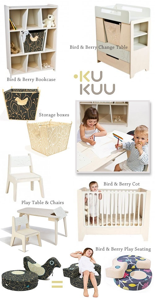 New! Kukuus Bird & Berry kids furniture range.