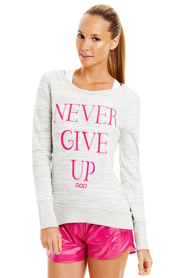 Never Give Up L/Slv Sweat   Just Landed
