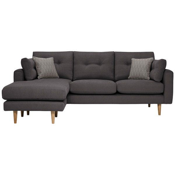 Charcoal Fabric Sofas Chaise Sofa Brighton Range Oak Furnitureland Chaise Sofa Oak Furniture Land Fabric Sofa