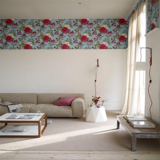 Wohnideen Wohnzimmer-weiß grau-Modern vintage-mix