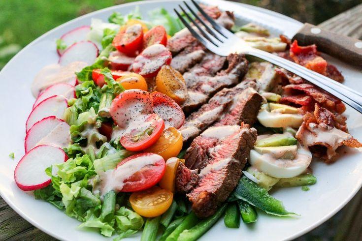 Grilled Steak Salad Cobb Style