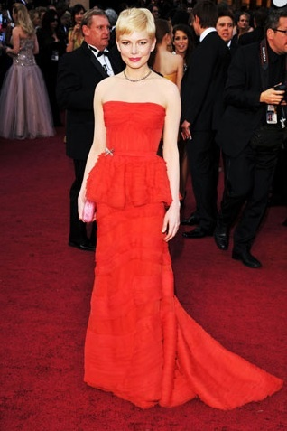 Oscars 2012 Trends: Trains!—Michelle Williams in Louis VuittonAnnual Academy, Louis Vuitton, Oscars Red Carpets, 2012 Oscars, Academy Awards, Michelle Williams, The Dresses, Oscars Dresses, Michele Williams