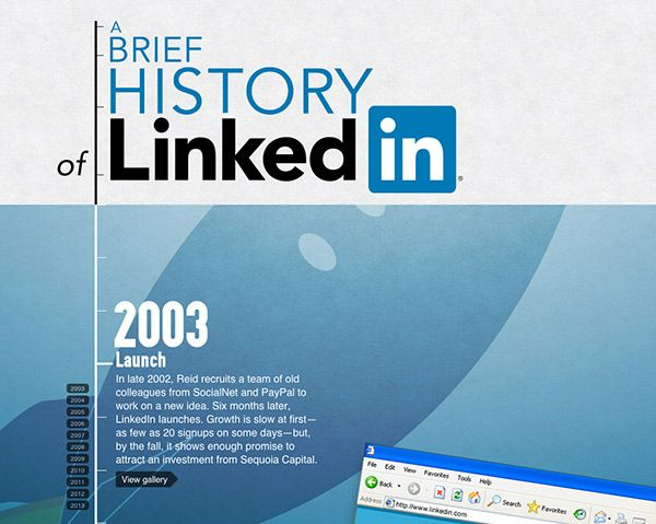 The History Of LinkedIn: A Brief 10 Year Celebration [INTERACTIVE INFOGRAPHIC]