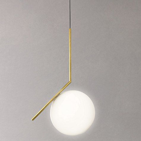 Buy Flos IC Lights 200 Pendant Light, Brushed Brass, Dia.20cm Online at johnlewis.com
