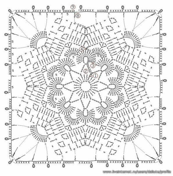 3488 best Crochet: Motifs & Squares images on Pinterest | Crochet ...