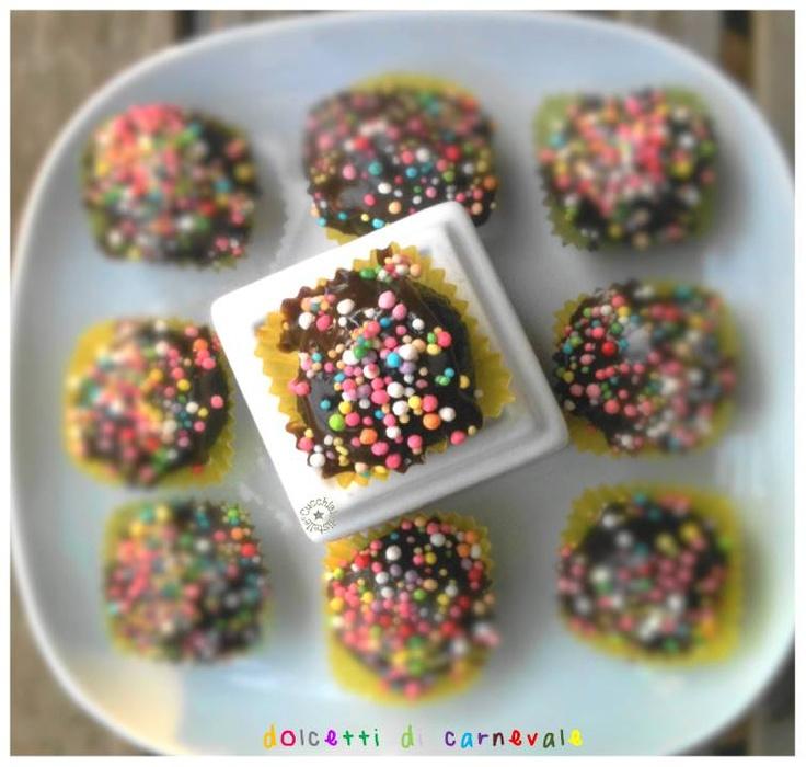 Chocolate truffles #Carnevale #Carnival #truffles