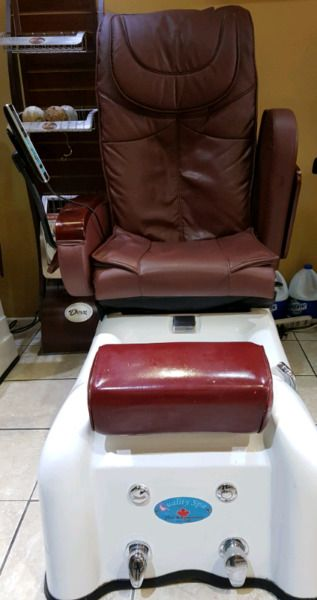 we have 3 spa-pedicure at mint condition to sale at bargain prices $400 -$600 (cost grand new over $2,500.00).if you are interesting to purchase all 3, we have very special deals. call 905 290 8572 or 647 991 8572.