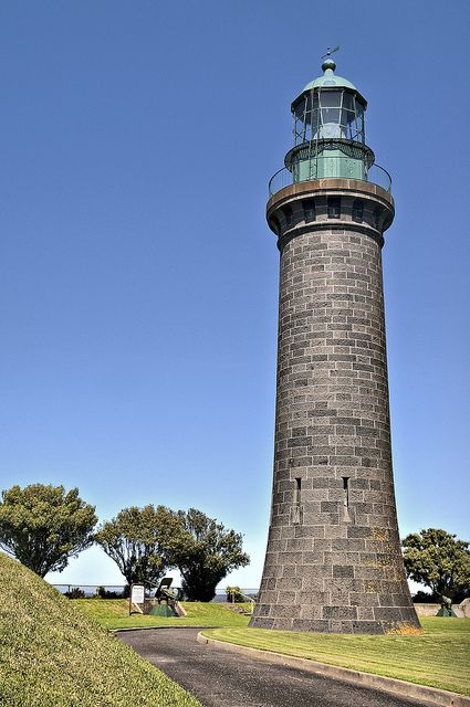 Fort Queenscliff Black lighthouse,Australia