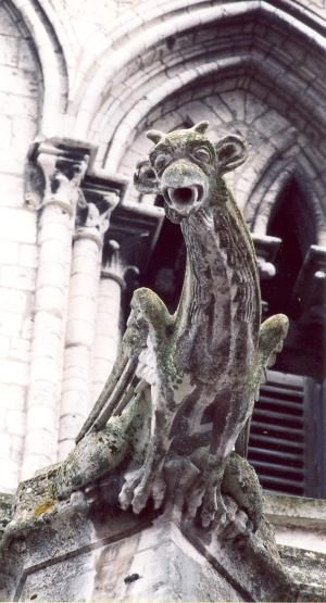 gargouille de la collégiale Notre Dame de Vernon, photo Anne Chrysotème