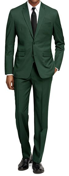 Mix up your work or going-out wardrobe with a slim-fit suit in an eye-catching shade of green