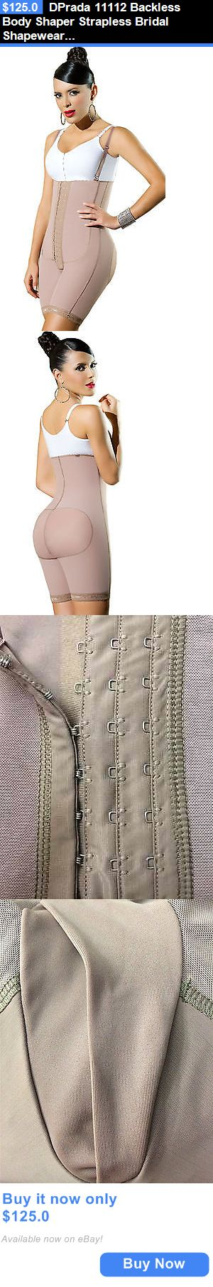 Women Shapewear: Dprada 11112 Backless Body Shaper Strapless Bridal Shapewear Postpartum Girdle BUY IT NOW ONLY: $125.0