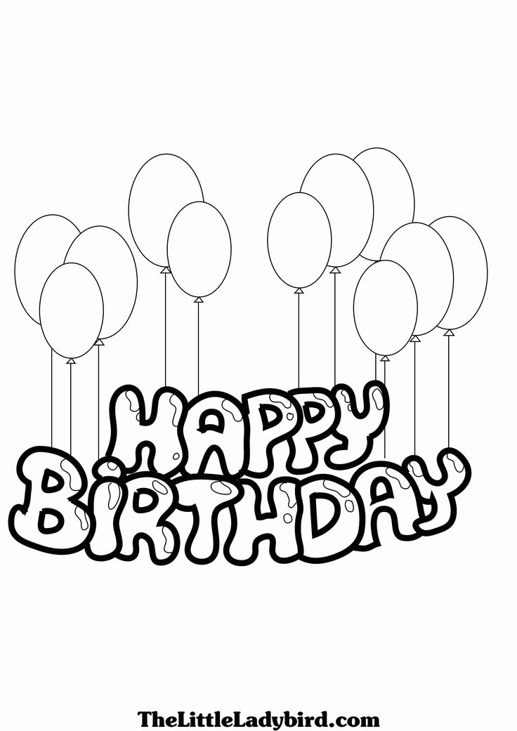 Birthday Cards Printable Coloring (With images) Birthday