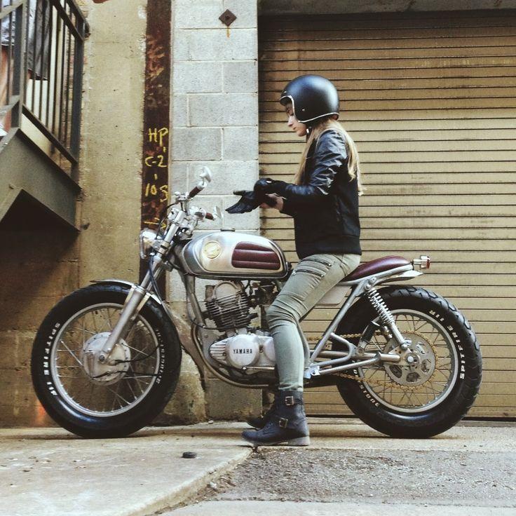 Motorcycle Girl - Yamaha