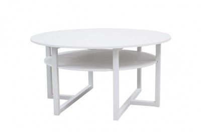 Brutus sofabord white round table shelf swedish design englesson www.helsetmobler.no