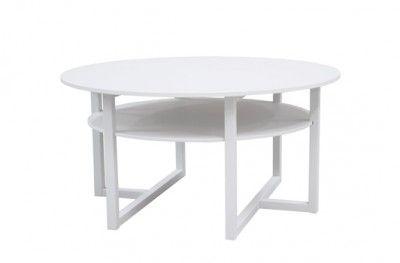 Brutus sofabord white round table shelf swedish design englesson www.helsetmobler.no